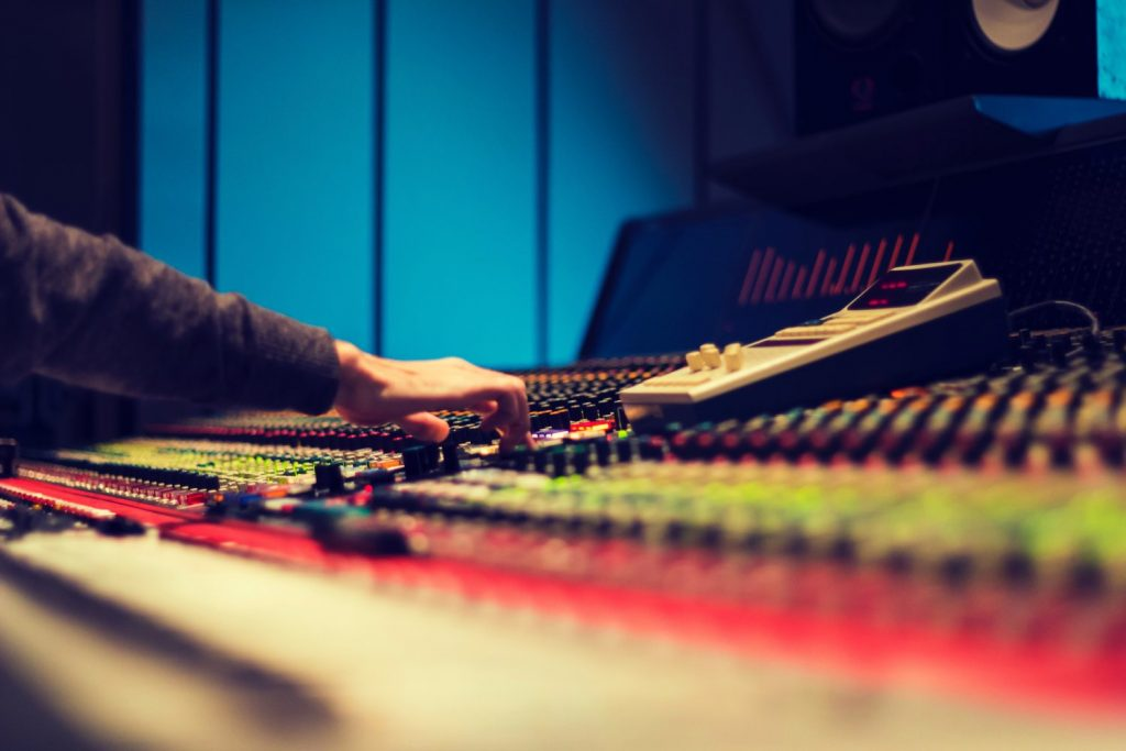 studio monitor controller in action