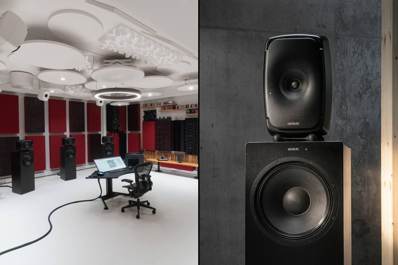 genelec immersive studio with genelec the ones monitors