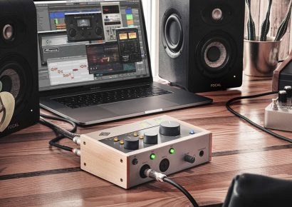 Universal Audio Volt 276 audio interface on desk with music production equipment